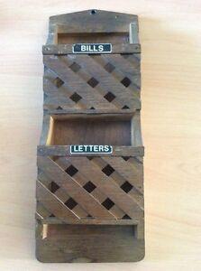 Wooden Wall organiser / Letter Rack