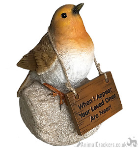 Remembrance Robin 'Loved ones are near' sign memorial ornament bird lover gift