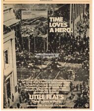 1977 Little Feat Time Loves A Hero Vintage Album Promo Print Ad