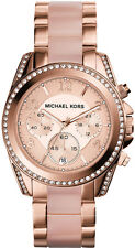 NEW MICHAEL KORS MK5943 LADIES ROSE GOLD BLAIR WATCH - 2 YEARS WARRANTY