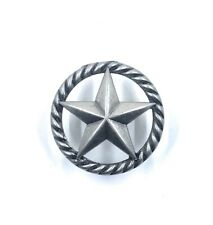 Star Rope Cabinet Drawer Knob Pull  Rustic Kitchen Western Hardware Decor Silver
