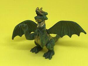 Mega Bloks Green Gold Dragon Figure 2.5 Inch PVC Plastic Dragons 🐉