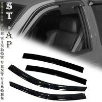 Outside Mount Rain Guards Visor Sun roof Combo 5pc For Nissan Sentra 2007-2012