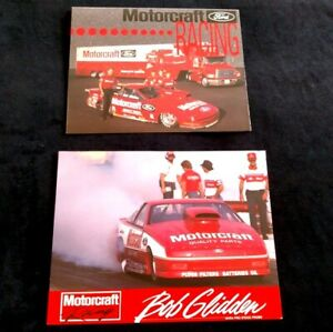 Bob Glidden Motorcraft Ford Probe Pro Stock NHRA NASCAR Tbird handout and poster