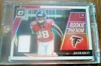 Calvin Ridley #15/50 Rookie PATCH Atlanta Falcons Jersey Optic Prizm #15/50