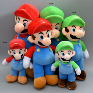 Large Set of 2 Super Mario & Luigi Brothers 35cm Plush Doll Soft Stuffed Toy AU