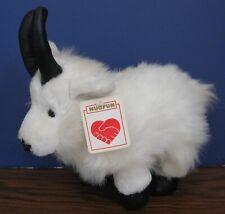 "Hugfun Plush White Goat - 10"" Long - With Tags"
