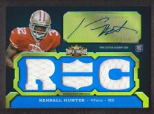 2011 Topps Triple Threads Football #112A Kendall Hunter RC Jersey Auto 97/99