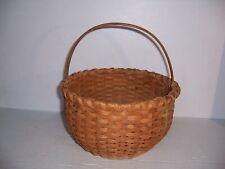 "Vintage Round Gathering Basket Country Farm Home Decor 10"""