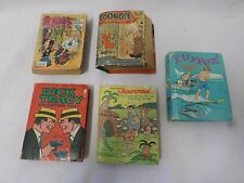 Lot of 5 Vintage Big Little Books Popeye Dick Tracy Flipper Flinstones Blondie