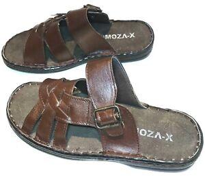 Men Wide Leather Orthopedic Diabetic Sandal Mule Fisherman Gladiator Roma Shoe