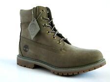 "NEW Timberland WOMENS Premium 6"" Light Green Nubuck Leather Boots 8.5 W/L"