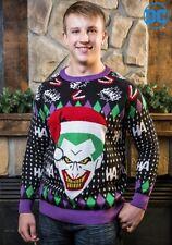 DC JOKER SANTA SWEATER SIZE SMALL UGLY CHRISTMAS