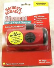 Nature's Miracle Advanced Pick-up Bags & Dispenser and LED Flashlight,15 Bags