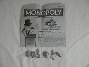 6 NY Yankees World Series Champions 2009 Monopoly USAopoly Collector's Tokens