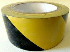 3x Warning Hazard Barrier Safety Self Adhesive Black/Yellow Tape Roll 50mm x 33m