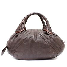 Used Fendi Mini Spy Bag Handbag Women Brown Leather 8Bl078 #F164