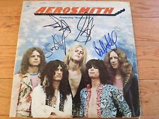 AEROSMITH SIGNED LP BY BAND COA + PROOF! STEVEN TYLER + 3 AUTOGRAPH ALBUM