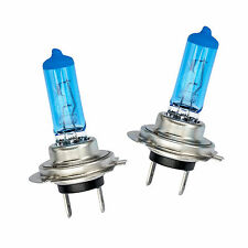 2x H7 100W Super White Xenon Look Blue Glass Headlight Halogen Light Bulbs 12V