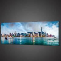 HONG KONG CHINA PANORAMIC CANVAS PRINT PICTURE WALL ART VARIETY OF SIZES