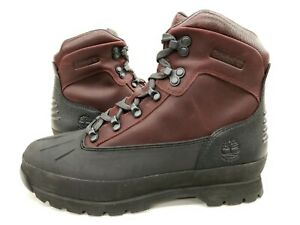 Timberland Eurohiker Shell WP wine leather Mens Sample Size 9 Nice New Rare