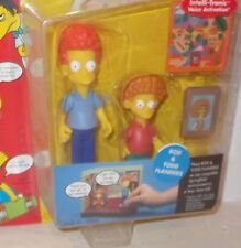 ✰ Playmates The Simpsons Series 9 Rod & Todd Flanders Interactive Action Figure