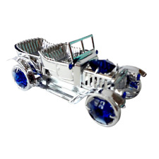 Crystocraft Vintage Classic Car Crystal Ornament Swarovski Elements Gift Boxed