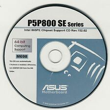 ASUS GENUINE VINTAGE ORIGINAL DISK FOR P5P800 SE Motherboard Drivers Disk M698