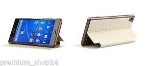 BASEUS BROCADE BOOK CASE BOOK bag for Sony Xperia Z3 Skin CASE white