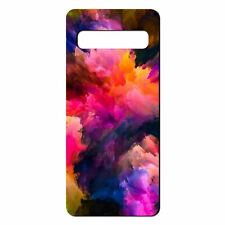 For Samsung Galaxy S10 Silicone Case Abstract Rainbow Art - S4915