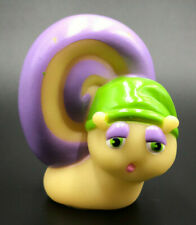 Vintage Glo-Friends Glow Worm 1986 Glo-Snail Green Hat Hasbro Playskool Purple