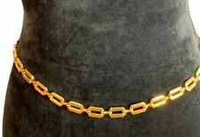 Women Yellow Goldtone Chain link Belt NY AND COMPANY