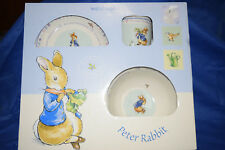 """Peter Rabbit - """"For Your Christening"""" Set - 1 Cup, 1 Bowl, & 1 Plate by Wedgwood"""