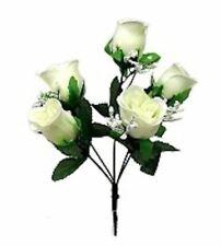 60 Rose Buds Cream Ivory Wedding Bouquet Silk Flowers Table Centerpiece Diy