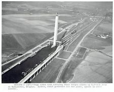 1969 Vintage Photo newly constructed Ronquieres Inclined Plane Canal in Belgium