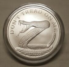 2018 Silver Shield 1oz Don't Tread on Me .999 Fine Silver Round Snake Coin