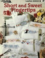 Short And Sweet Fingertips Counted Cross Stitch 9 Patterns By Leisure Arts