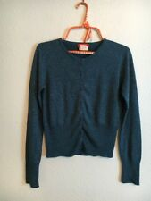 Vtg 90's Sparkly Holiday Cardigan - Teal Sparkly Cardigan Size Small