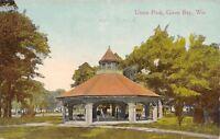 Green Bay Wisconsin~Union Park~Octagon Pavilion~Widow's Walk 1914 Postcard