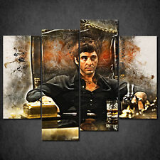 THE SCARFACE TONY MONTANA CASCADE CANVAS PRINT WALL ART PICTURE READY HANG