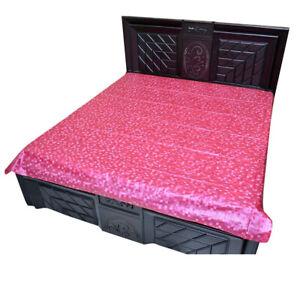Plastic Mattress Protector Sheet (6.5 Ft x 6.5 Ft), Pink UK