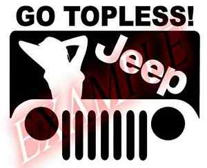 PICK COLOR SIZE Vinyl Decal Jeep Go Topless Funny Sexual Sticker Window Glass