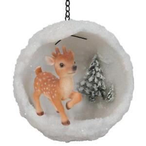Vivid Arts - Mini Hanging Snowball - Reindeer - Tree Ornament/Decoration