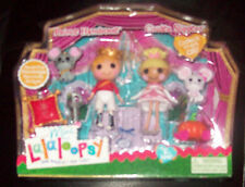 RaRE HTF Mini Prince Handsome And Cinder Slippers Lalaloopsy Dolls NIB!!!