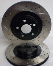 Lexus GS450H 07 08 Drilled Slotted Brake Rotors F+R