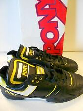 NOS Vtg Pony SI-40  Court Sports Shoes Size 9 1/2 Men's Black White Yellow w/Box