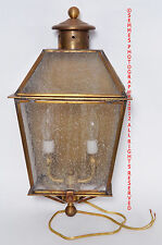 Lantern Light Large Brass New Frosted white glass Outdoor Beautiful must see NEW
