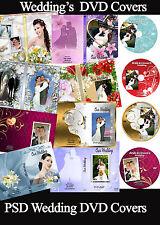 Wedding Digital DVD Covers Labels Photoshop Templates PSD vol 1