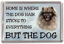 "Keeshond Dog Fridge Magnet ""Home is Where"" Design by Starprint"