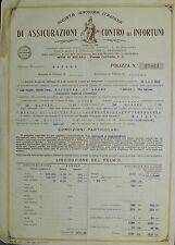 """Pubblicità WERBUNG - NA1926 """" SOC.ANON.ITALIANA DI ASSIC.CONTRO GLI INFORTUNI"""""""